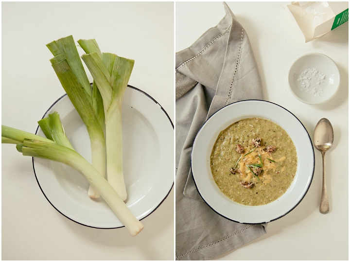 Leek Broccoli & Cheddar Soup | Clean Living Chronicles
