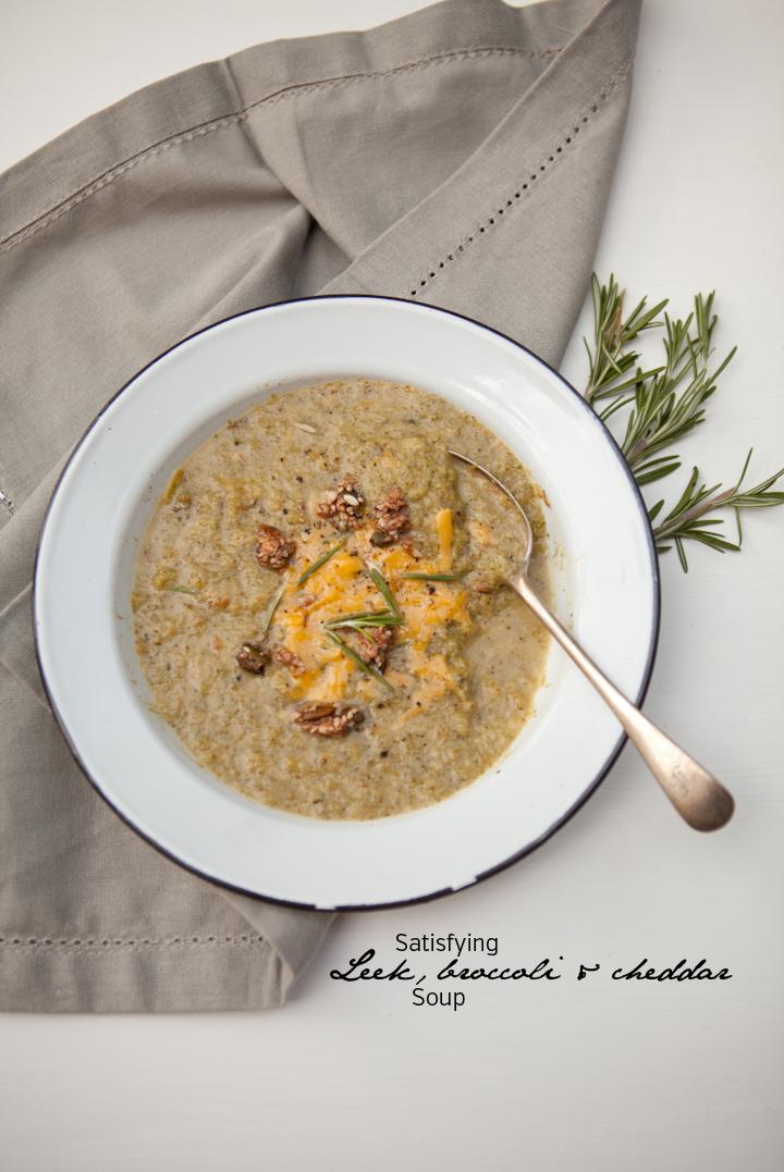 Leek Broccoli & Cheddar Soup | Clean Living Chronicles