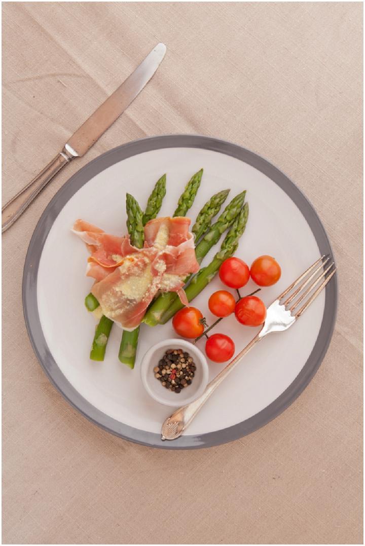 Asparagus With Parma Ham & Parmesan Dressing