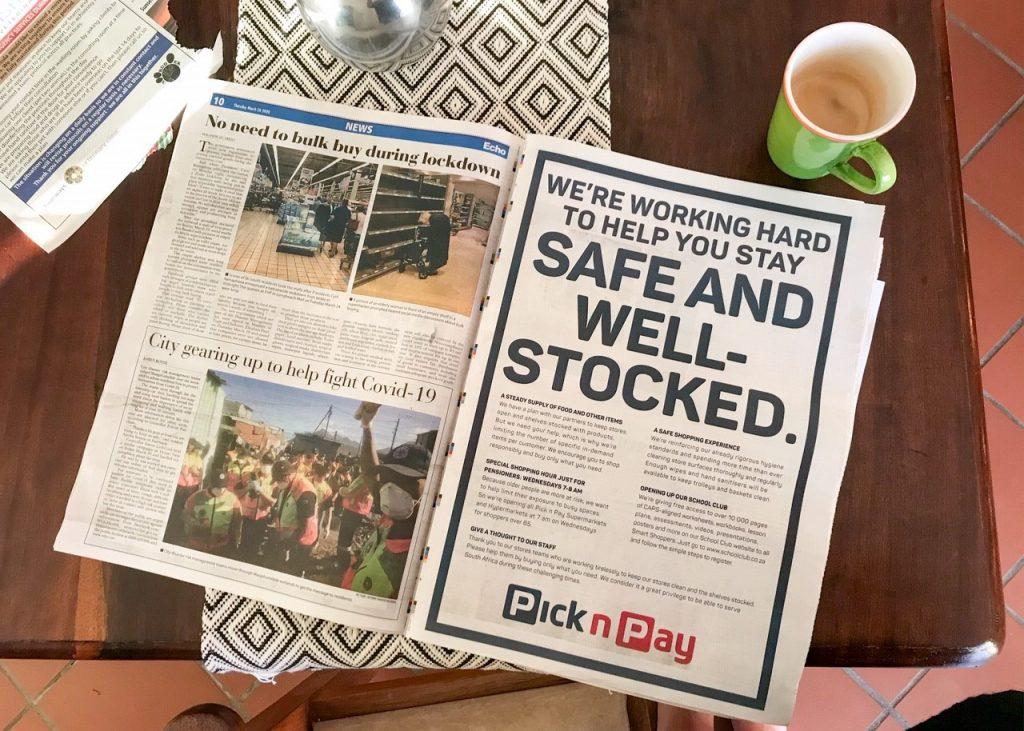 COVID-19 Newspaper Spread